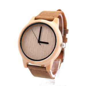 montre en bois bambou