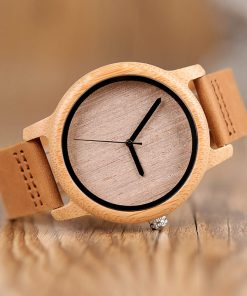 montre en bois bambou photo