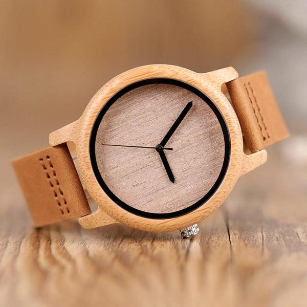 montre en bois bambou photo