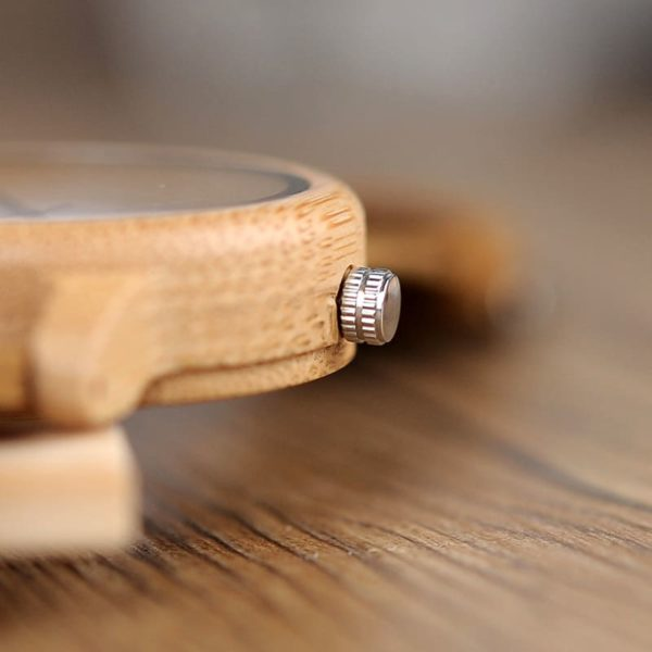 montre en bois bambou reglage