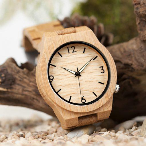 montre en bois chataigne forestiere