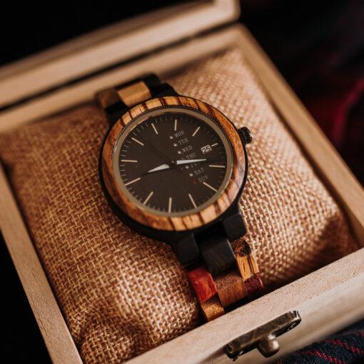 montre en bois colorado femme coffret cadeau
