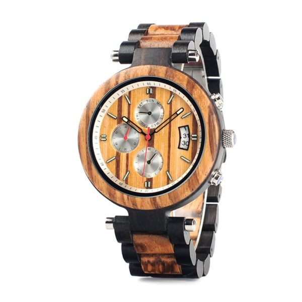 montre en bois moderne chrono