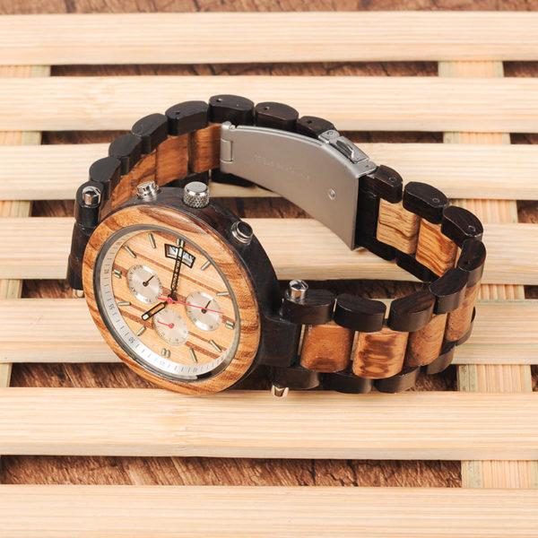 montre en bois moderne chrono bracelet