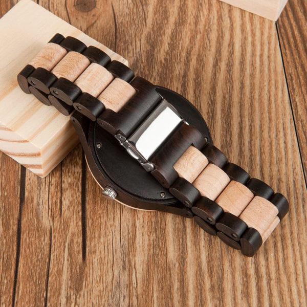 montre en bois moderne unisexe bracelet