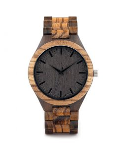 montre en bois style forestier