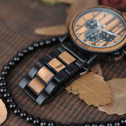 montre en bois style gentleman bracelet