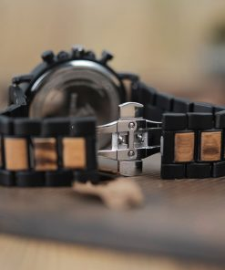 montre en bois style gentleman bracelet attache
