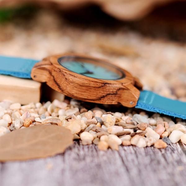 montre en bois tendance cadran