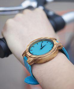 montre en bois tendance poignet