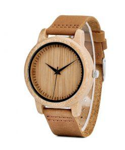 montre en bois traditionnelle