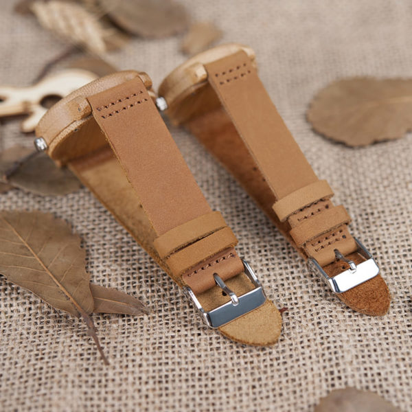 montre en bois traditionnelle bracelet
