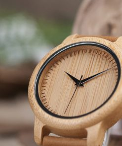 montre en bois traditionnelle cadran