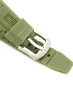 montre en bois vert silicone bracelet