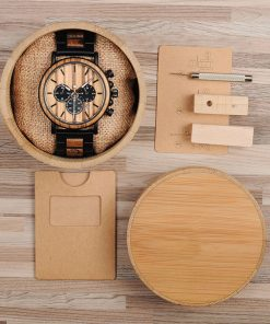 montres en bois style gentleman boite