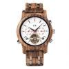 montres en bois mécaniques et luxueuses 1