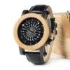 montre en bois mecanique optique