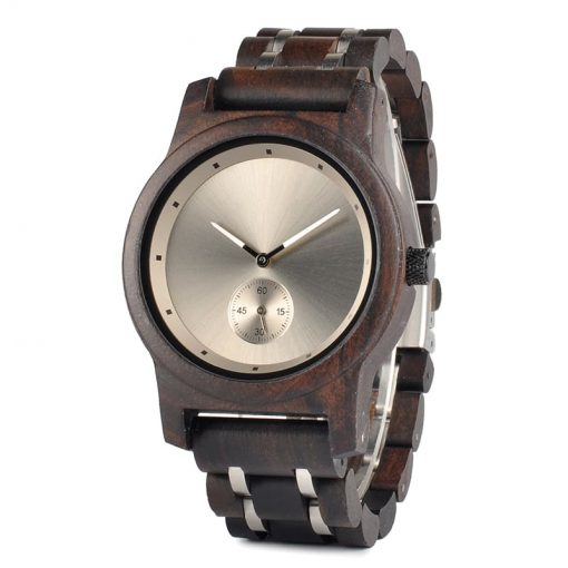 montre en bois contemporaine