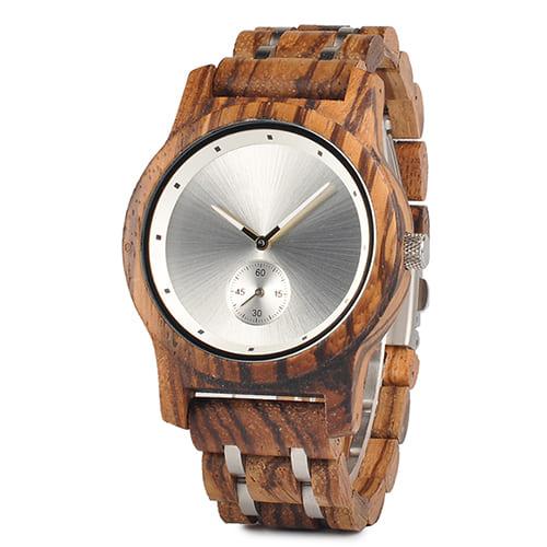 montre en bois contemporaine bambou cote