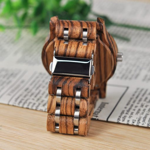 montre en bois contemporaine bracelet 2