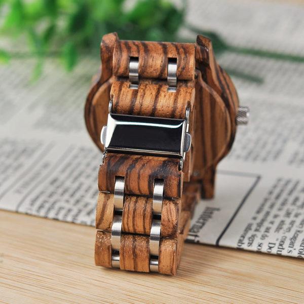 montre en bois contemporaine bracelet 2