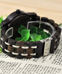 montre en bois contemporaine bracelet