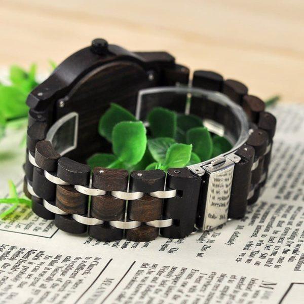 montre en bois contemporaine bracelet