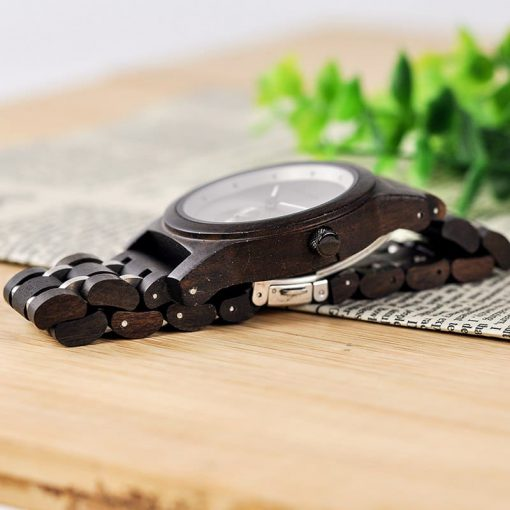 montre en bois contemporaine photo ebene