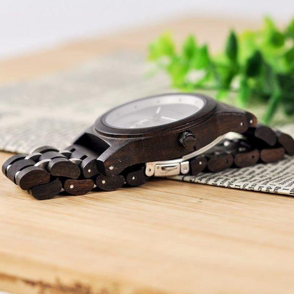 montre en bois contemporaine photo ebene