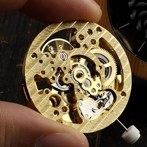 montre en bois mecanique luxe mecanique