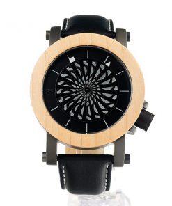 montre en bois mecanique luxe moderne