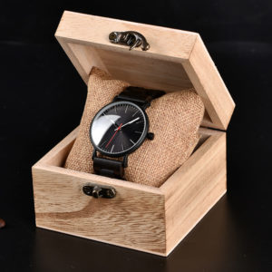 montre en bois modele azur boite