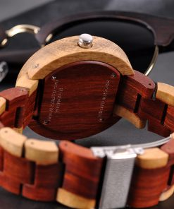 montre en bois satin bracelet
