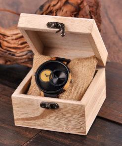 montre en bois satin coffret