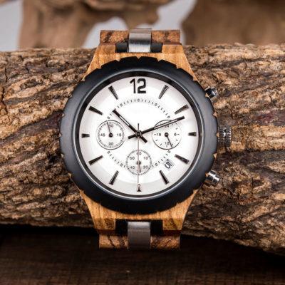 montre en bois luxe elegant