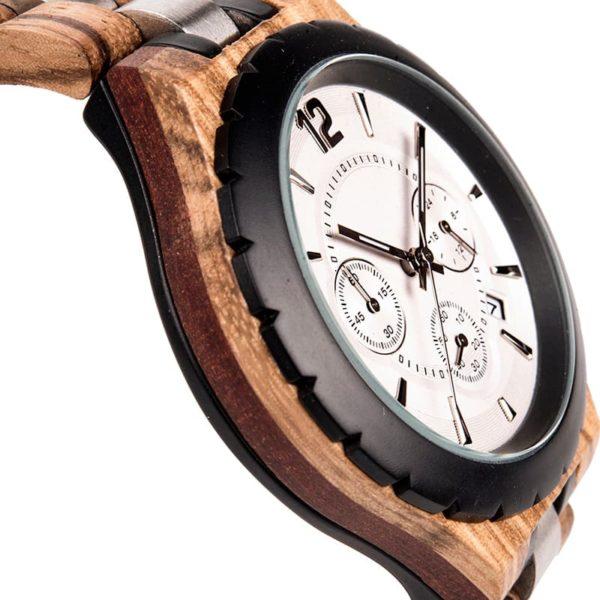 montre en bois luxe elegant cote
