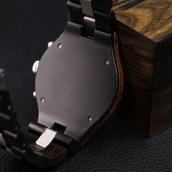 montre en bois luxe elegant dos