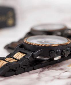 montre en bois marbre bracelets