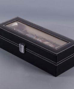 rangement montres en bois 6 pieces pleine