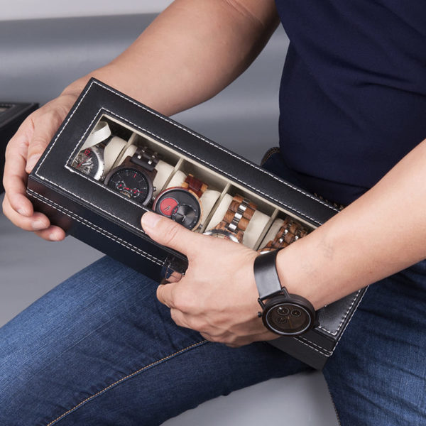 rangement montres en bois pieces boite