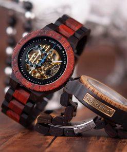 montre bois chronos mecaniques