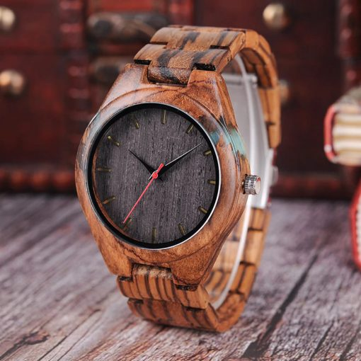 montre bois epicia marron photo