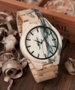 montre bois lunar modele