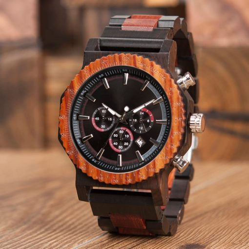 montre bois rictus photo