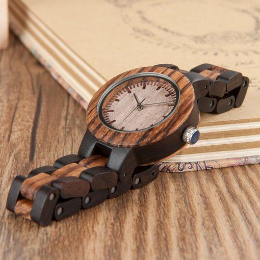 montre bois samsas bracelet