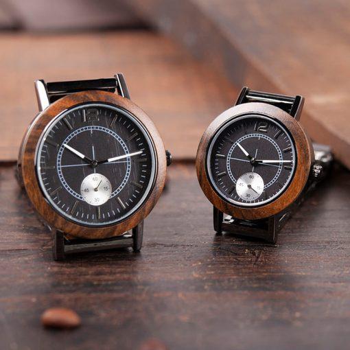 montre bois victus marron tailles