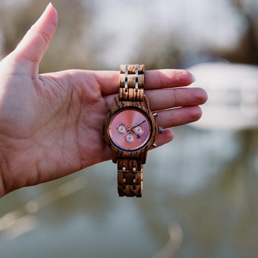 montre en bois luxeor femme luxe