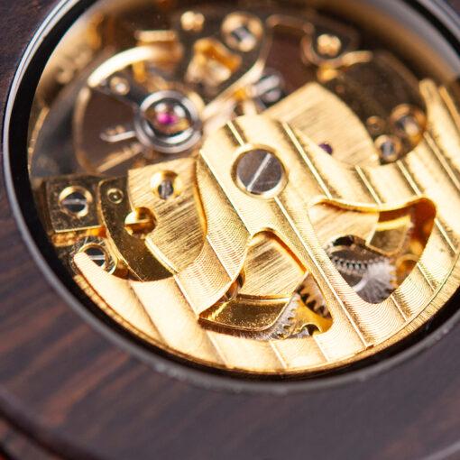 montre en bois mecanique chronos bordeaux mecanisme