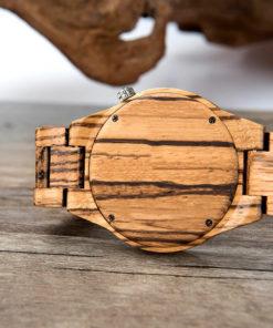 montre en bois rune blanc brlacelet