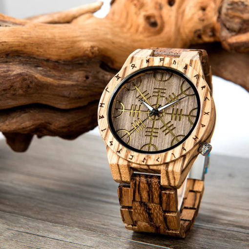 montre en bois rune nature